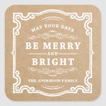 Classic Christmas | Holiday Gift Tag Labels Square Stickers