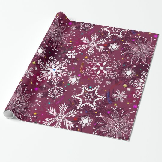Classic Christmas Holiday Snowflake Pattern