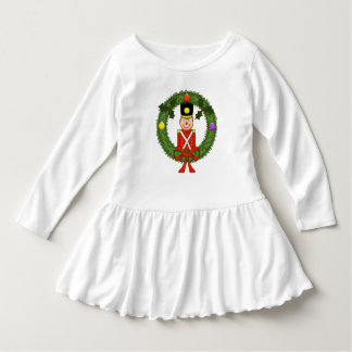 Classic Christmas Soldier Toddler Ruffle Dress