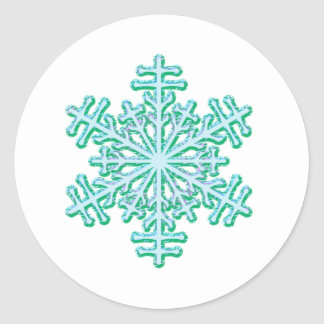 Classic Christmas Winter Snowflake Classic Round Sticker