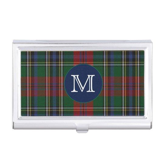 Classic Clan MacLean Tartan Plaid Monogram Case For Business Cards
