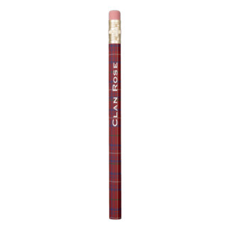 Classic Clan Rose Tartan Plaid Pencil