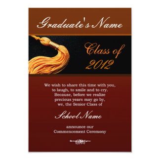 Classic Class of 2012 Graduation Event Invitations