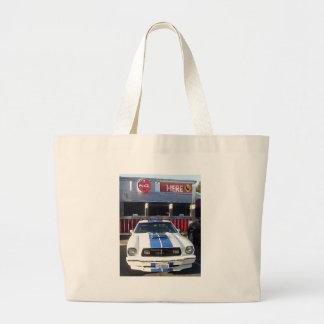 Classic Cobra at Diner Large Tote Bag