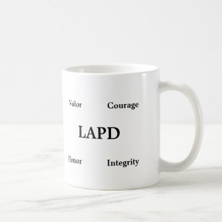 Classic Coffee Mug Honoring Los Angeles Police