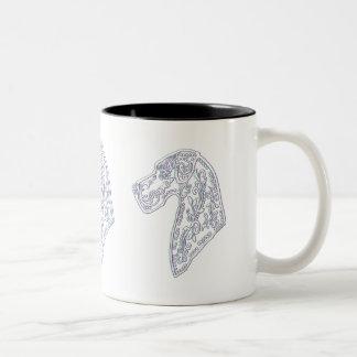 Classic Coffee Mug with Great Dane Sugar Skull