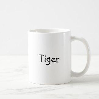 "Classic coffee mug with ""Tiger"""