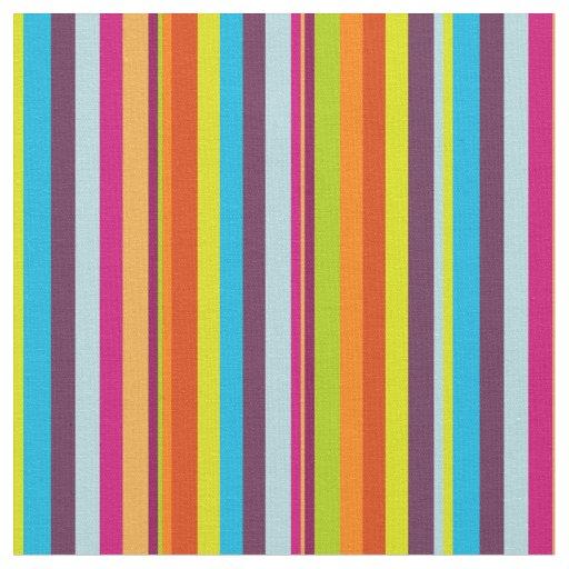 Classic Colourful Stripes Fabric
