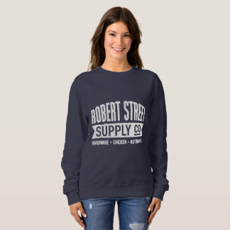 Classic comfort-fit navy sweatshirt. sweatshirt