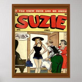 Classic Comic Cover Vintage Suzie Poster