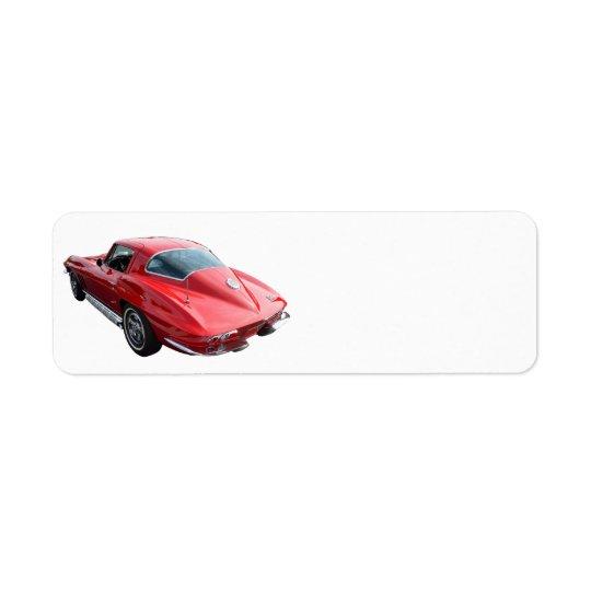 Classic Corvette Coupe Return Address Label