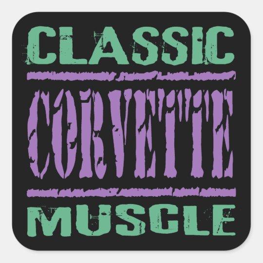 Classic Corvette Muscle Square Sticker