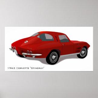 Classic Corvette Stingray Poster
