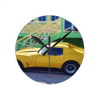 Classic Corvette Stingray. Wallclocks