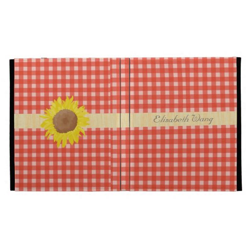 Classic country plaids and sunflower iPad folio covers