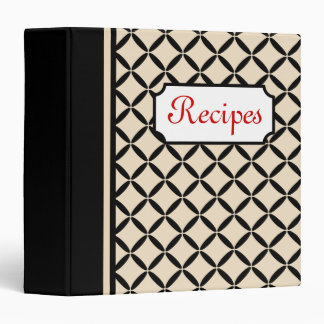 Classic Cream and Black Recipe Binder