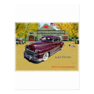Classic Cruisin Cars 1948 Desoto Postcard