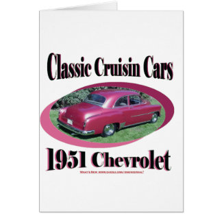 Classic Cruisin Cars 1951 Chevrolet Card