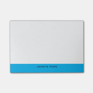 Classic Custom Name Text and Blue Background Post-it® Notes