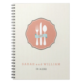 Classic Cutlery Beige Pinstripe Dinner Notebook