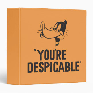 """Classic DAFFY DUCK™ """"You're Despicable"""" Binder"""