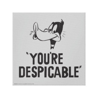 "Classic DAFFY DUCK™ ""You're Despicable"" Canvas Print"