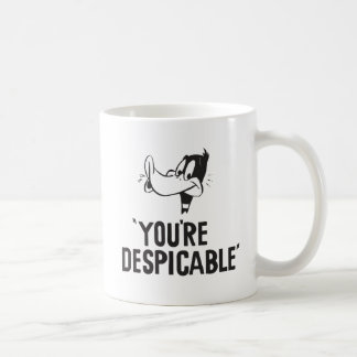 "Classic DAFFY DUCK™ ""You're Despicable"" Coffee Mug"