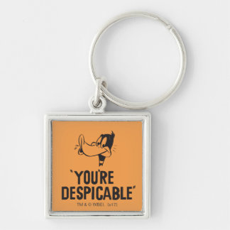 "Classic DAFFY DUCK™ ""You're Despicable"" Keychain"