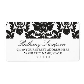 Classic Damask Address Labels