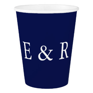 Classic Dark Navy Blue Wedding Paper Cup