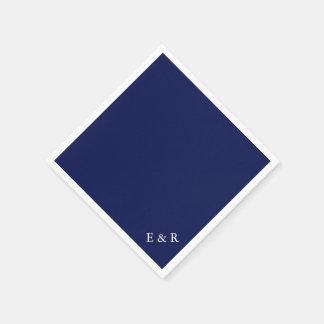Classic Dark Navy Blue Wedding Paper Napkin