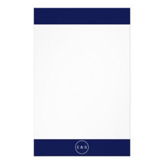 Classic Dark Navy Blue Wedding Stationery