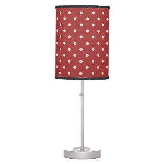 Classic Dark Red Polka Dots Table Lamp