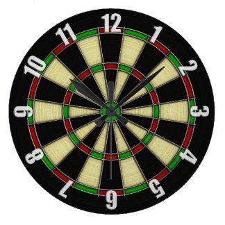 Classic Dart Board Design Large Clock
