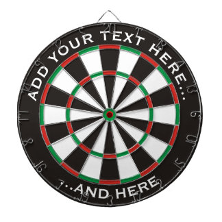 Classic Dartboard with custom text
