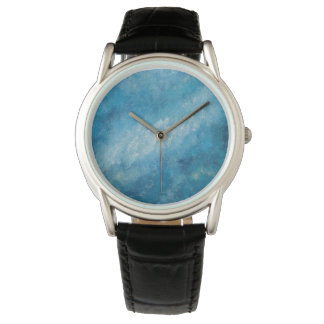 Classic Designer Black Leather Watch