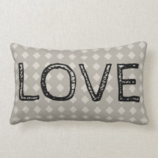 Classic Diamond LOVE Lumbar Pillow