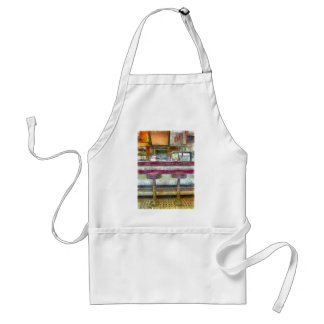 Classic Diner Stools Watercolor Standard Apron