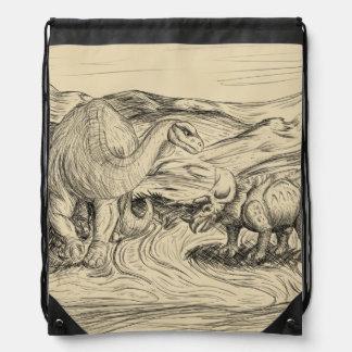 Classic Dinosaurs Drawstring Bag