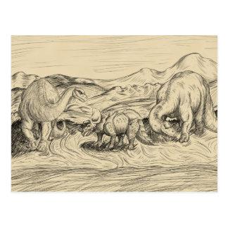 Classic Dinosaurs Postcard