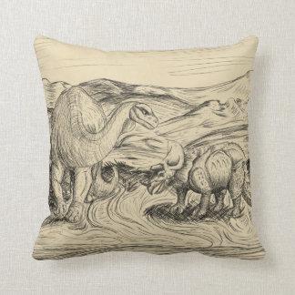 Classic Dinosaurs Throw Pillow