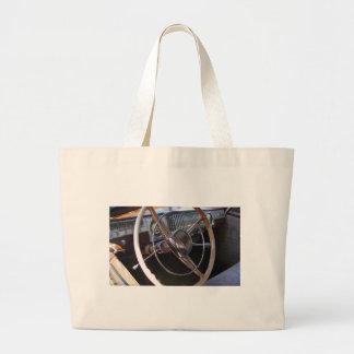 Classic Dodge dashboard. Large Tote Bag