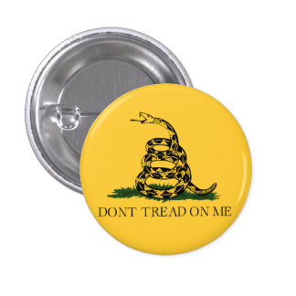 Classic Don't Tread on Me, Gadsden flag tea party 1 Inch Round Button