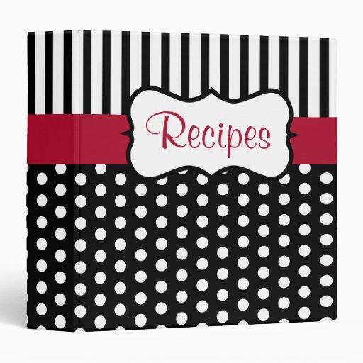 Classic Dot Recipe Binder