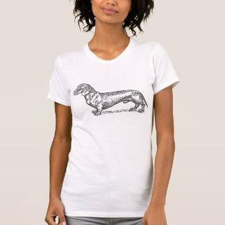 Classic Doxie - Black (womens) Tee Shirt