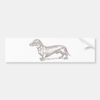 Classic Doxie - Grey Bumper Sticker