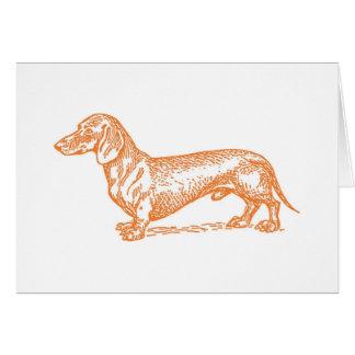 Classic Doxie - Orange Blank Card
