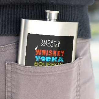 Classic Drinks Choice Whiskey funny Hip Flask