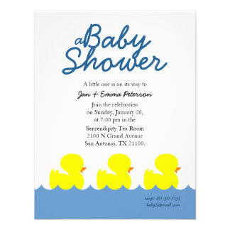 classic ducky custom BABY SHOWER invitation