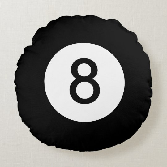 Classic Eight Ball Round Pillow